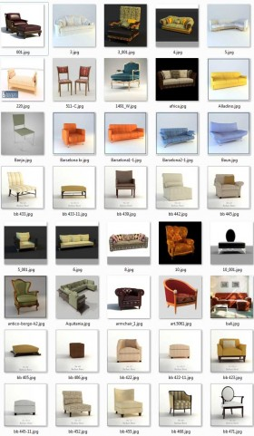 Tổng hợp 263 Model Ghế và Sofa các loại 00016