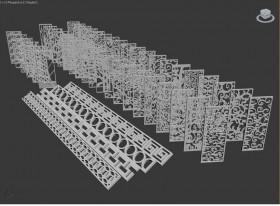 Tổng hợp thư viện Model chi tiết Vách CNC 003