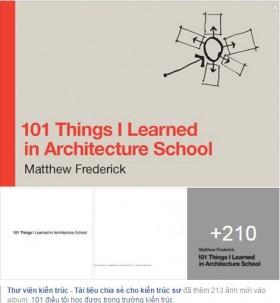Tạp chí 101 điều tôi học được trong trường kiến trúc