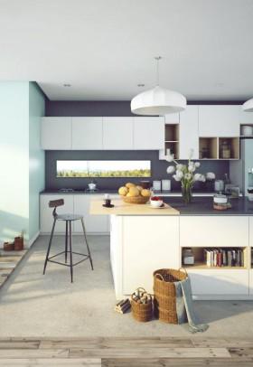 Sence Phòng bếp + ăn 0006 - Phối cảnh phòng bếp ăn đẹp