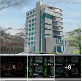 Hồ sơ thiết kế nhà đào tạo sau đại học 9 tầng (Đại Học Đà Nẵng)