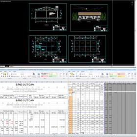 Bản vẽ nhà xưởng công nghiệp bao gồm cả dự toán Full