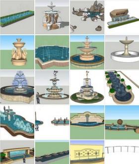 Tổng hợp 63 File Sketchup 3D Model Đài phun nước đẹp P1