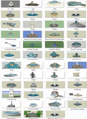Tổng hợp 47 File Sketchup 3D Model Đài phun nước đẹp P2
