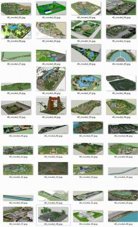 Tổng hợp 40 File Sketchup 3D Model Thiết kế quy hoạch cảnh quan Mẫu P1