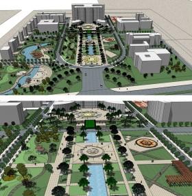 File Sketchup Đồ án Quy hoạch khu trung tâm hành chính