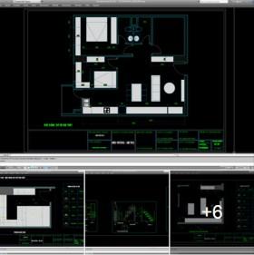 Hồ sơ thiết kế thi công nội thất chung cư mẫu 006 căn hộ 85m2