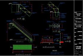 Chi tiết cầu thang sắt