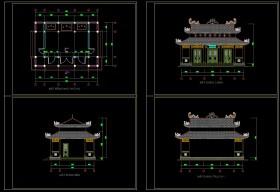 Hồ sơ thiết kế thi công nhà thờ họ mẫu số 008