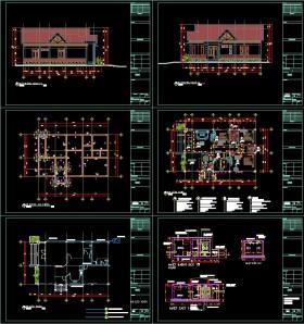 Hồ sơ thiết kế nhà 1 tầng diện tích 9x15m  full kiến trúc