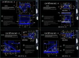 Bản vẽ Autocad Chi Tiết WC download