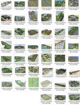 Tổng hợp 46 File Sketchup 3D Model Thiết kế quy hoạch cảnh quan Mẫu P2