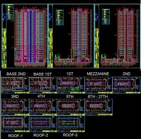 Hồ sơ thiết kế khách sạn 5 sao hà nội diện tích 31x69m 27 Tầng