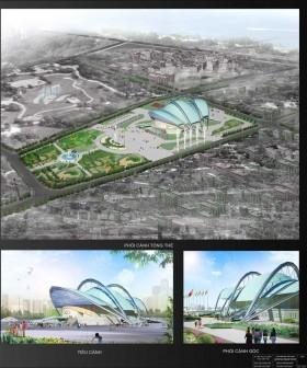 Đồ án tốt nghiệp kiến trúc sư - Thiết kế nhà thi đấu 1200 Chỗ