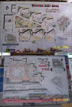 Tổng hợp đồ án vẽ tay Thiết kế Trường Mầm non