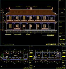 Hồ sơ thiết kế nhà điền viên thôn 2 tầng diện tích 7x23m full kiến trúc