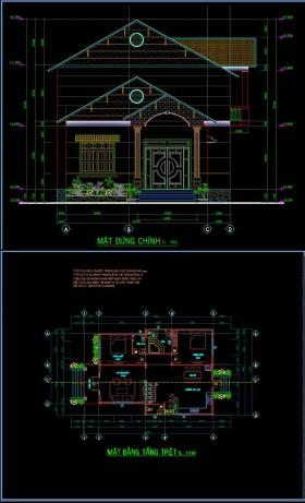 Hồ sơ thiết kế nhà 1 tầng diện tích 10x15m