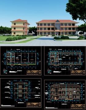 Hồ sơ thiết kế Nhà Làm việc 3 tầng - Nơi lưu trữ hồ sơ tài liệu xe ô tô