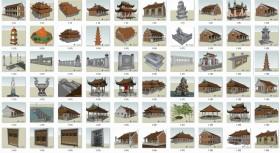 Tổng hợp thư viện sketchup về kiến trúc Đình Chùa full download