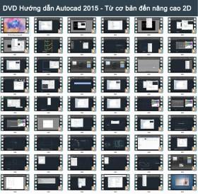 DVD Hướng dẫn học Autocad 2015 từ cơ bản đến nâng cao Full