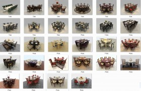 Thư viện 3dsmax tổng hợp 28 Model bàn ghế ăn các loại P1
