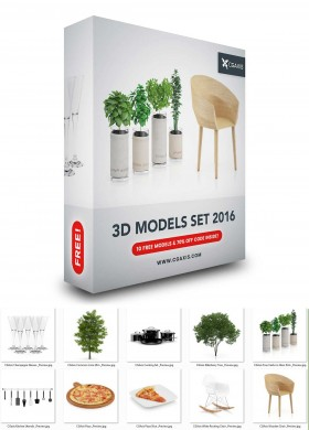 Thư viện 3dsmax Models Set 2016 full download