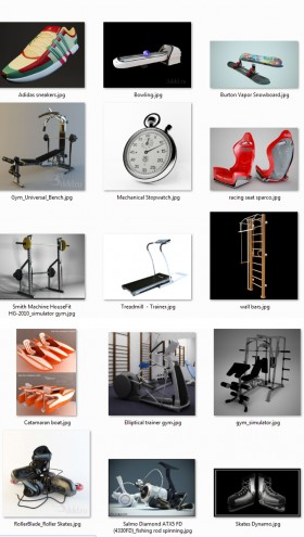 Tổng hợp 22 Model dụng cụ tập Gym 01 full download