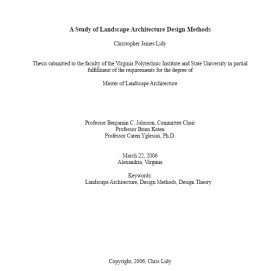 A Study of Landscape Architecture Design Methods