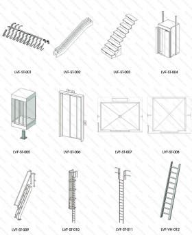 Thư viện Revit tổng hợp các loại thang dùng trong thiết kế