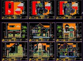 Hồ sơ thiết kế biệt thự 3 tầng diện tích 10x13m - 0065