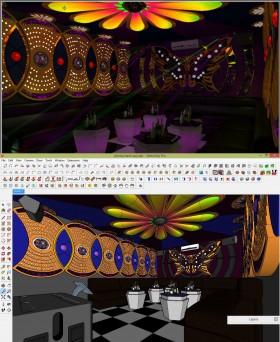 Phối cảnh Phòng Karaoke 003 - File Sketchup