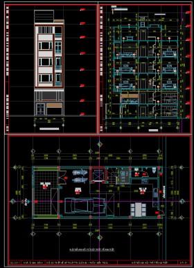 Hồ sơ thiết kế nhà phố 7 tầng có thang máy diện tích 6x15m 078