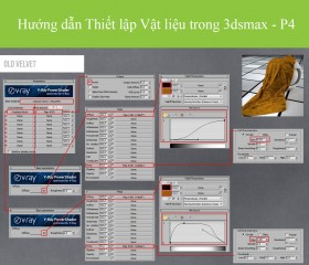 Hướng dẫn Thiết lập Vật liệu trong 3dsmax - P4