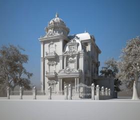 Phối cảnh 3d file Max lâu đài cổ điển 2 full