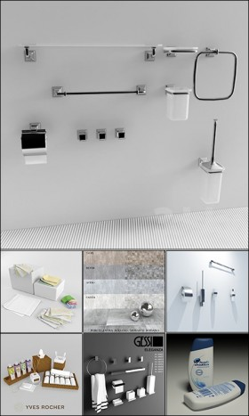 Thư viện 3d tổng hợp 29 Model về Trang thiết bị vệ sinh phòng tắm P1