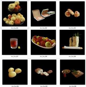 Thư viện 3dsmax tổng hợp 09 Model về thực phẩm, đồ ăn P2