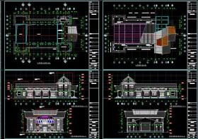 Hồ sơ thiết kế Nhà văn hóa Huyện Mê Linh mẫu 03 full Kiến trúc