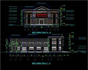 Hồ sơ thiết kế Nhà văn hóa Thôn Vinh mẫu 04 full Kiến trúc