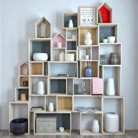 Thư viện 3d model kệ gỗ để sách và trang trí P2