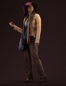 Thư viện 3D model cô gái xinh đi Shoping