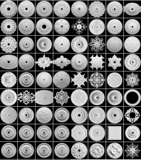 Thư viện 3DsMax về 137 chi tiết phù điêu thạch cao tân cổ điển P2 full 3d và cad