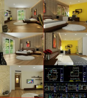 Hồ sơ chi tiết bổ đồ nội thất Phòng ngủ Bố mẹ M02