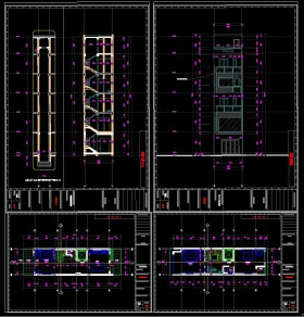 Hồ sơ thiết kế nhà phố 6 tầng diện tích 4,8x17,6m full kiến trúc, kết cấu, điện nước 081