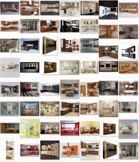 Thư viện 3dsmax tổng hợp 53 Model về các loại tủ bếp hiện đại và cổ điển