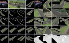 Tổng hợp 240 Model 3D Road Elements Pack