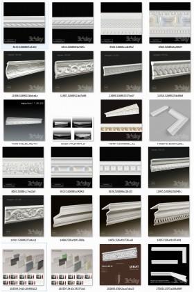 Tổng hợp 25 Model 3D về phào, chỉ Tân cổ điển download