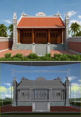 File 3Dsmax Phối cảnh Nhà Thờ 006 download