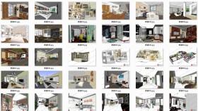 Thư viện tổng hợp 30 file Sketchup phối cảnh Nội thất Phần 2