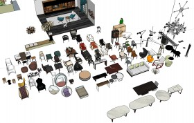 Thư viện tổng hợp file Sketchup đồ đạc nội thất các loại Phần 1