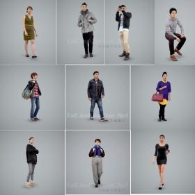 Tổng hợp 10 model 3D người chất lượng cao 013